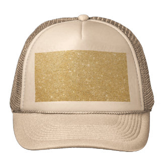 Glitter Shiny Luxury Golden Cap