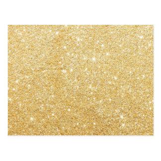 Glitter Shiny Luxury Golden Postcard