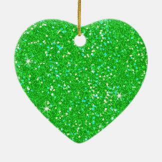 Glitter Shiny Sparkley Ceramic Heart Decoration