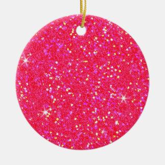 Glitter Shiny Sparkley Round Ceramic Decoration