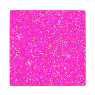 Glitter Shiny Sparkley Wood Coaster