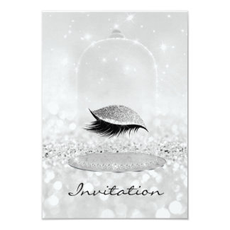 Glitter Silver Gray Diamond Vip Lashes Eye Glitter Card