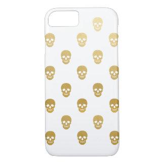 Glitter Skulls - gold foil iPhone 8/7 Case