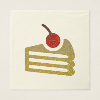 Glitter Slice of Cake Napkins Disposable Napkin