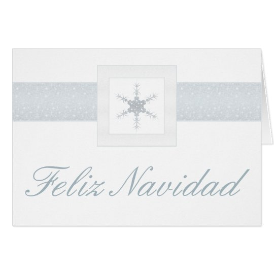Glitter Snowflake Christmas Greetings in Spanish Card