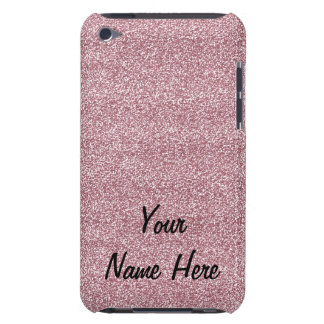 Glitter & Sparkles Pink (add name) Case-Mate iPod Touch Case