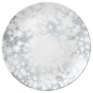 Glitter Sparkly Grey Silver Plate