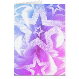 Glitter star in pastel card