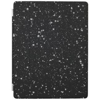Glitter Stars2 - Silver Black iPad Cover