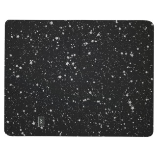 Glitter Stars2 - Silver Black Journal