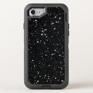 Glitter Stars2 - Silver Black OtterBox Defender iPhone 8/7 Case