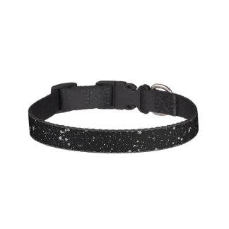 Glitter Stars2 - Silver Black Pet Collar