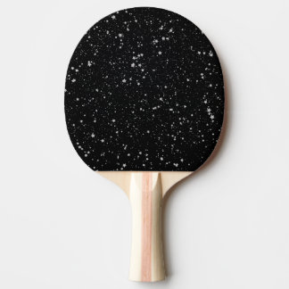 Glitter Stars2 - Silver Black Ping Pong Paddle