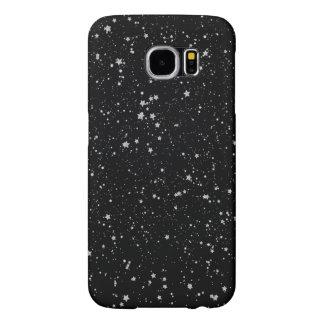 Glitter Stars2 - Silver Black Samsung Galaxy S6 Cases