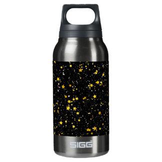 Glitter Stars3 - Gold Black Insulated Water Bottle