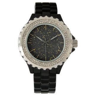 Glitter Stars3 - Gold Black Watch