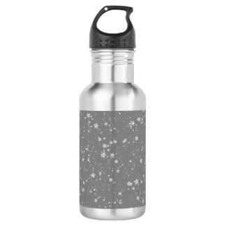 Glitter Stars4 - Silver 532 Ml Water Bottle