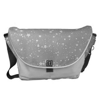 Glitter Stars4 - Silver Commuter Bag