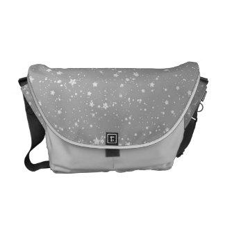 Glitter Stars4 - Silver Commuter Bags