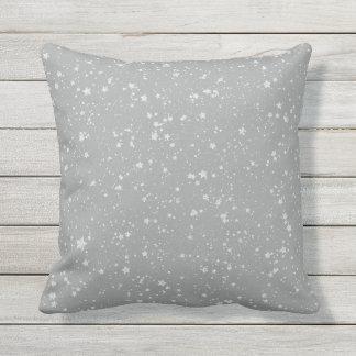 Glitter Stars4 - Silver Cushion