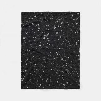 Glitter Stars4 - Silver Fleece Blanket