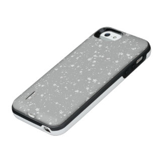 Glitter Stars4 - Silver iPhone SE/5/5s Battery Case