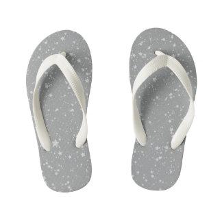Glitter Stars4 - Silver Kid's Thongs