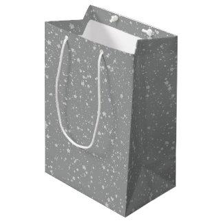 Glitter Stars4 - Silver Medium Gift Bag