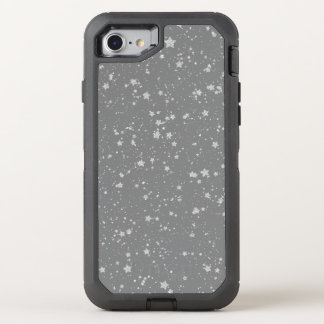 Glitter Stars4 - Silver OtterBox Defender iPhone 8/7 Case