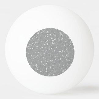 Glitter Stars4 - Silver Ping Pong Ball