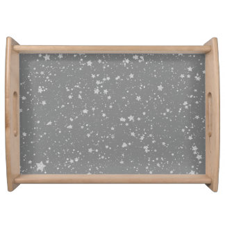 Glitter Stars4 - Silver Serving Tray