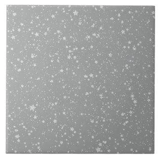 Glitter Stars4 - Silver Tile