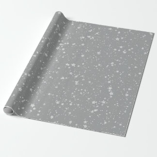 Glitter Stars4 - Silver Wrapping Paper