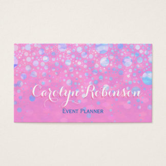 Glitter Stars in Pink and Blue Business Card