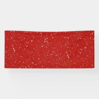 Glitter Stars - Silver Red Banner