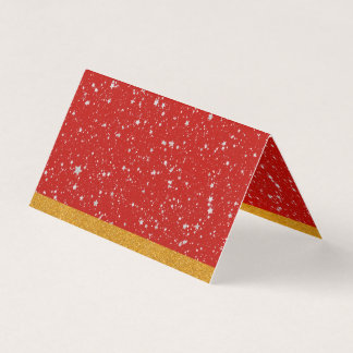 Glitter Stars - Silver Red Business Card