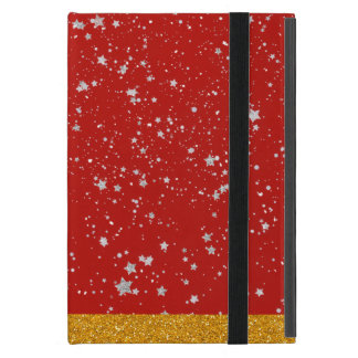 Glitter Stars - Silver Red Case For iPad Mini