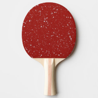 Glitter Stars - Silver Red Ping Pong Paddle