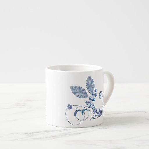 Glitter stars espresso cup