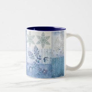 Glitter stars Two-Tone coffee mug