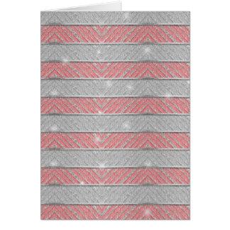 Glitter Striped Zig Zag Card