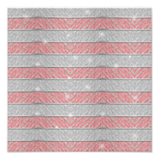 Glitter Striped Zig Zag Photo Print