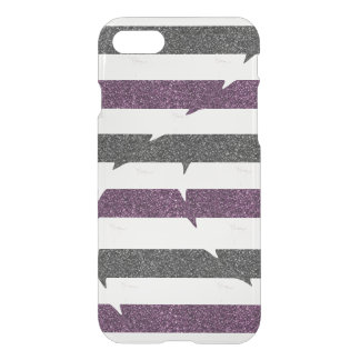 Glitter Stripes, Ballerina iPhone 8/7 Case