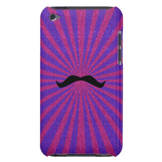 Glitter sunburst mustache barely there iPod cases