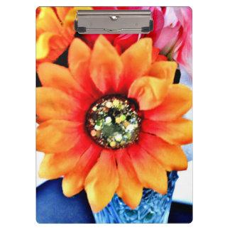 Glitter Sunflower Clipboard