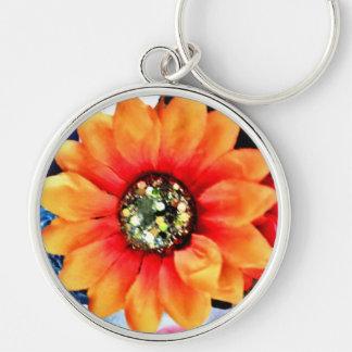Glitter Sunflower Key Ring