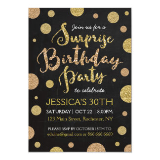 Glitter Surprise Birthday Invitation