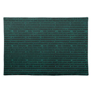 glitter teal stripes placemat