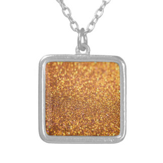Glitter Texture Silver Plated Necklace