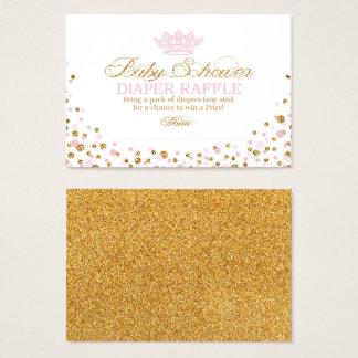 Glitter Tiara Royal Princess Diaper Raffle Ticket